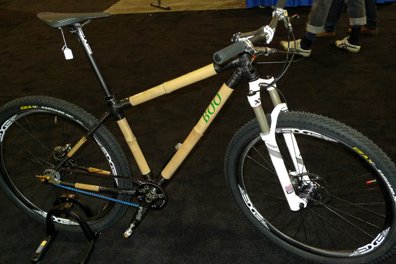 The Boo 29er combines bamboo with Carbon Drive for a nature-meets-technology mashup. Photo: www.mountainflyer.com