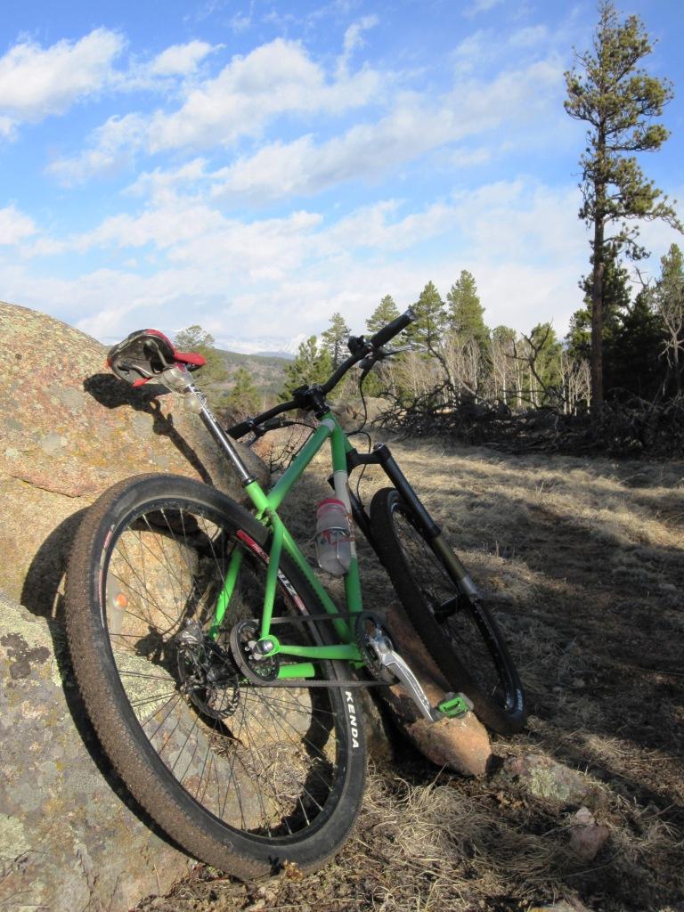 green belted bike