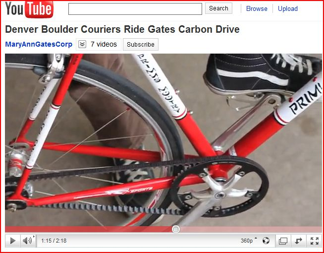 Bike Messengers Gates Carbon Drive