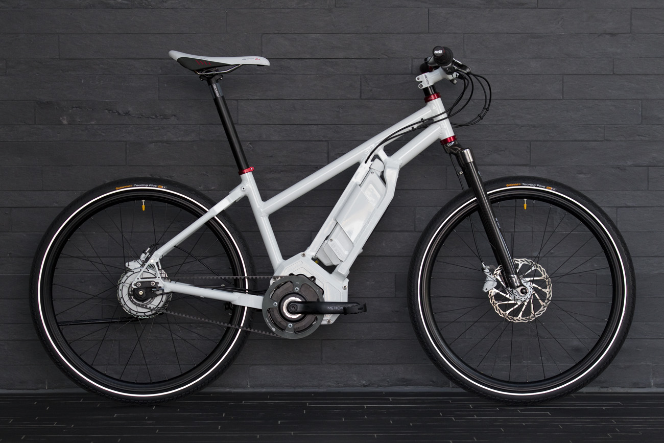 An E-Bike prototype featuring Gates Carbon Drive and NuVinci hub.