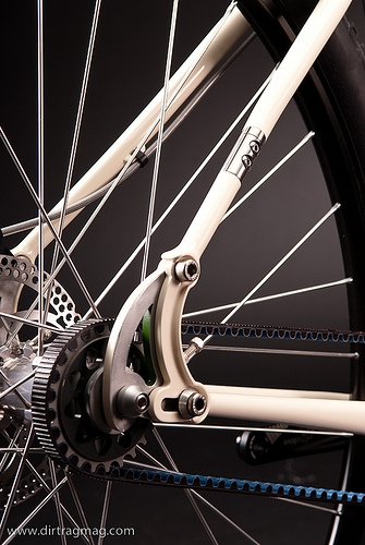 Rookie of the year winner at the North American Handmade Bike Show, the Rosene bike has a Gates Carbon Drive.