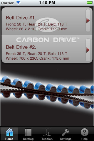 The new Gates Carbon Drive iPhone app determines whether a cyclist needs to tighten or loosen their belt-drive bike tensioners.