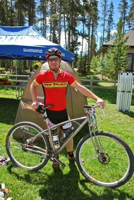 Cyclist Jake Kirkpatrick will race the Tour Divide on his Gates Carbon Drive outfitted titanium Black Sheep bicycle.