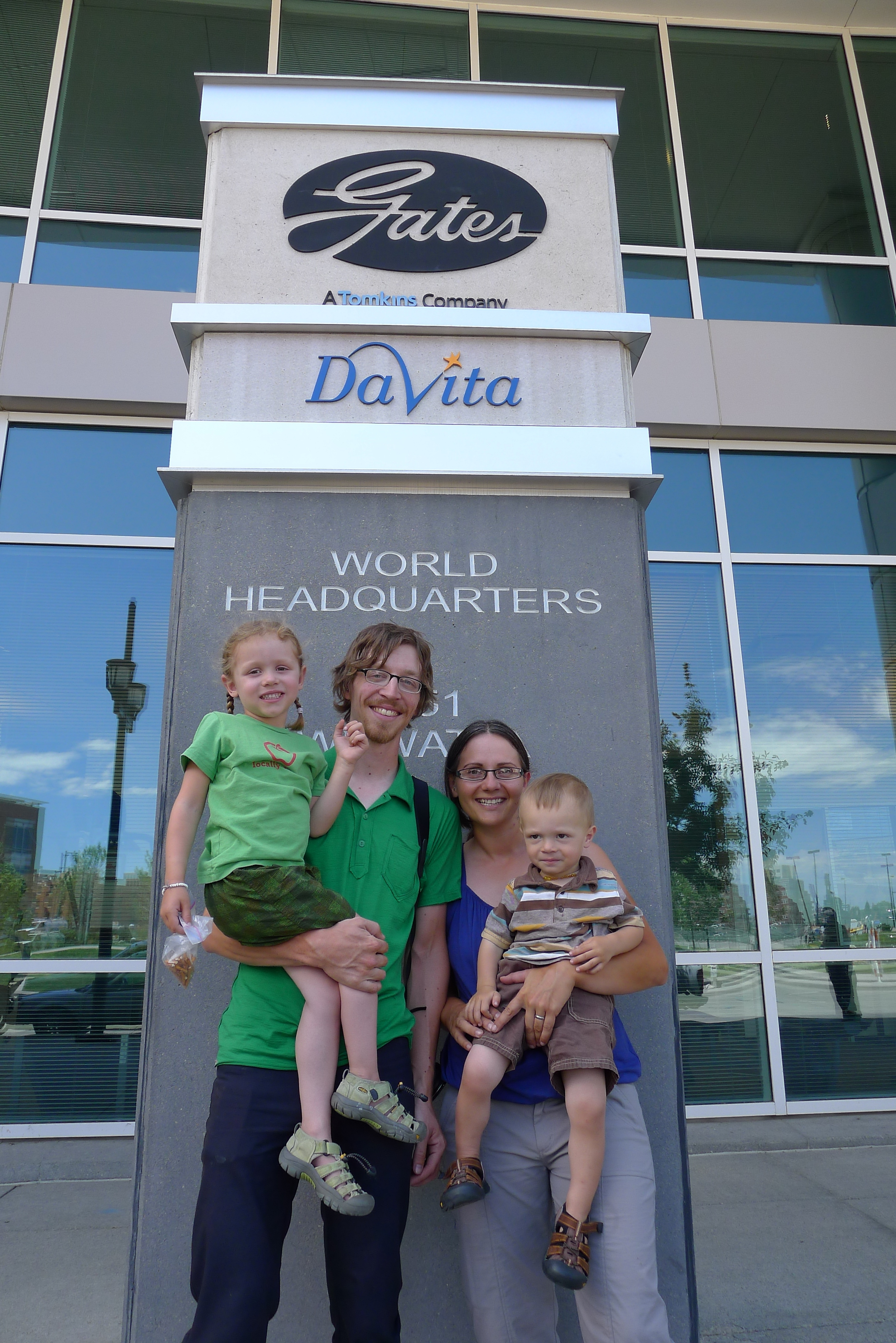 The Pedal Powered Family stops by the Gates headquarters in Denver for a visit.