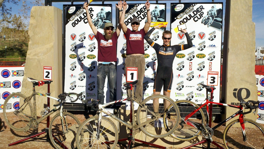 Cross race winning with Team Gates Carbon Drive