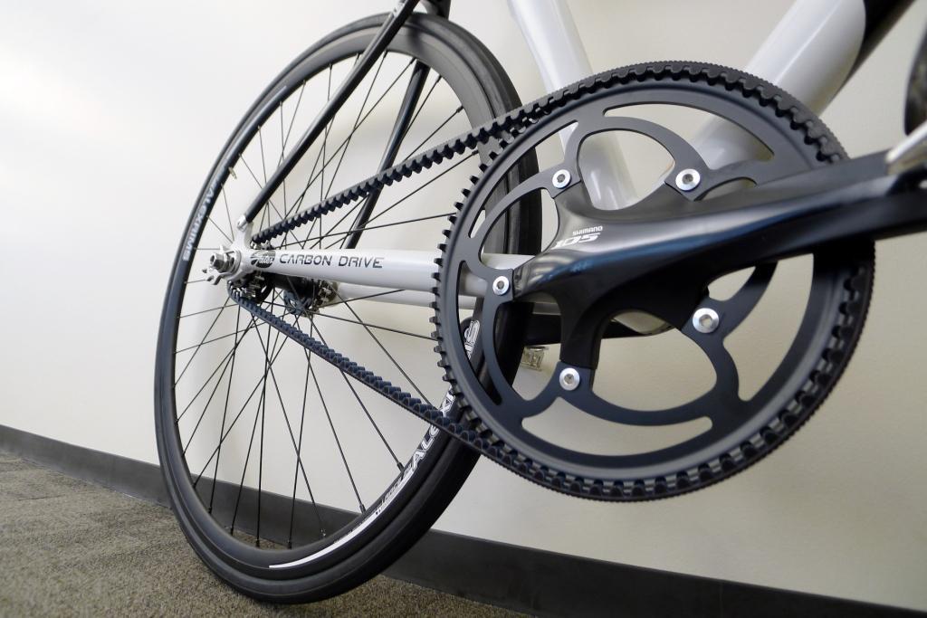 Track bike sprocket closeup