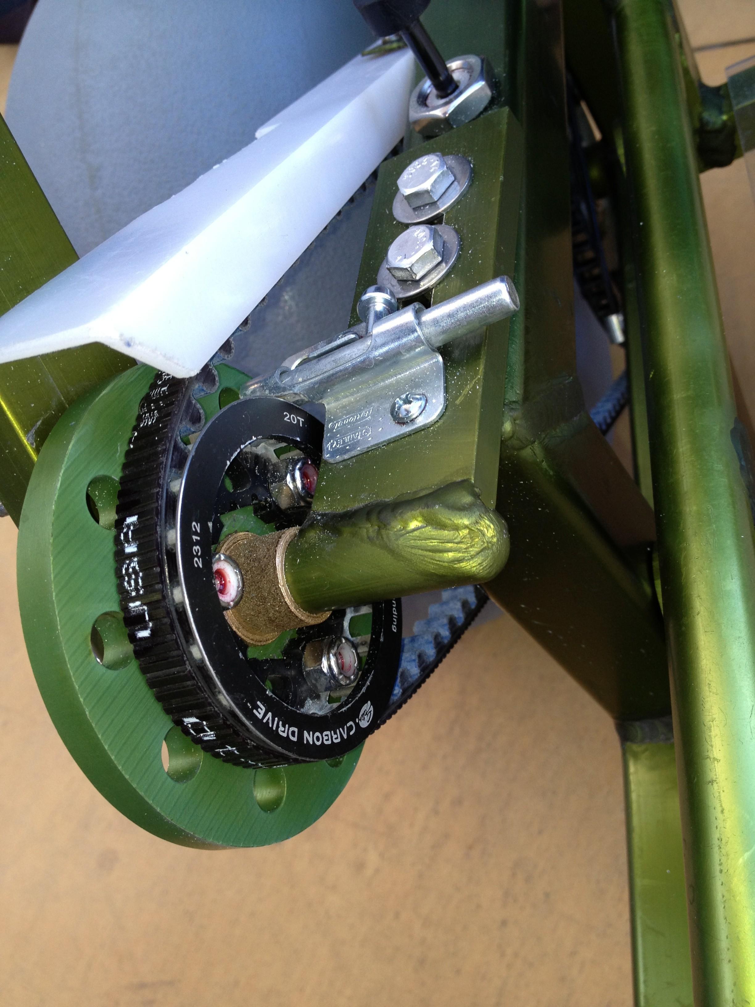 Beach Wheel Chair belt closeup