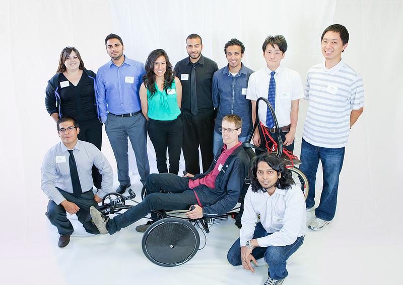 Cal Northridge Human Powered Vehicle Trike and team