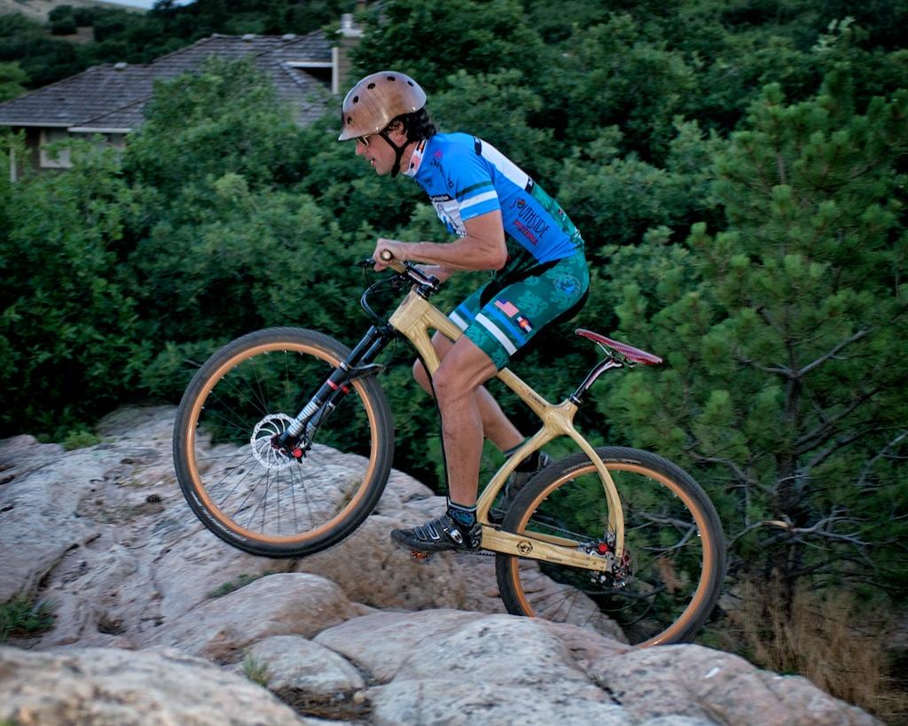 Connor Wood Leadville bike on rocks