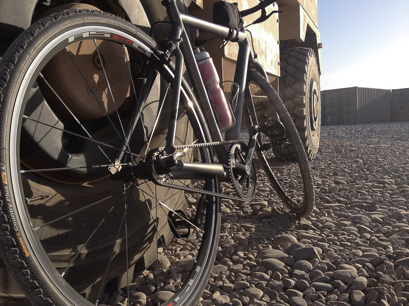 Afghanistan bike against truck