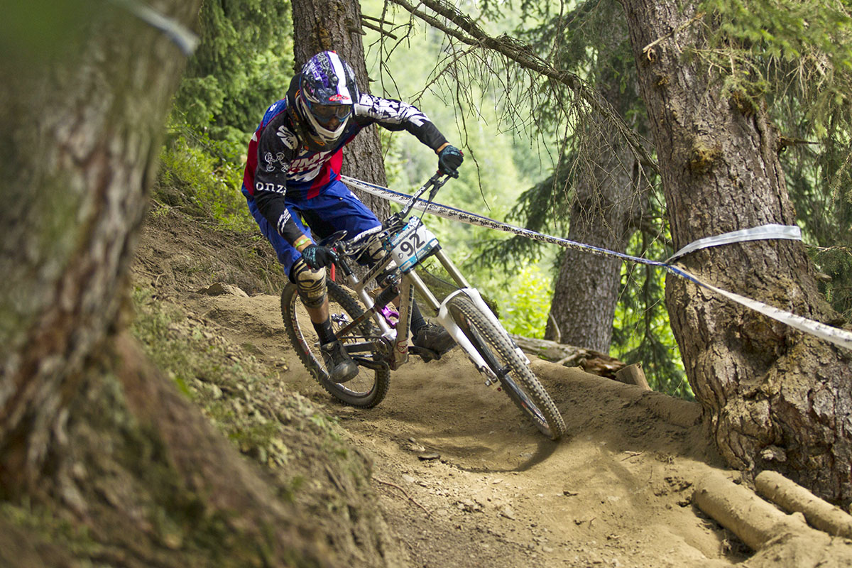 Nicolai DH bike racing