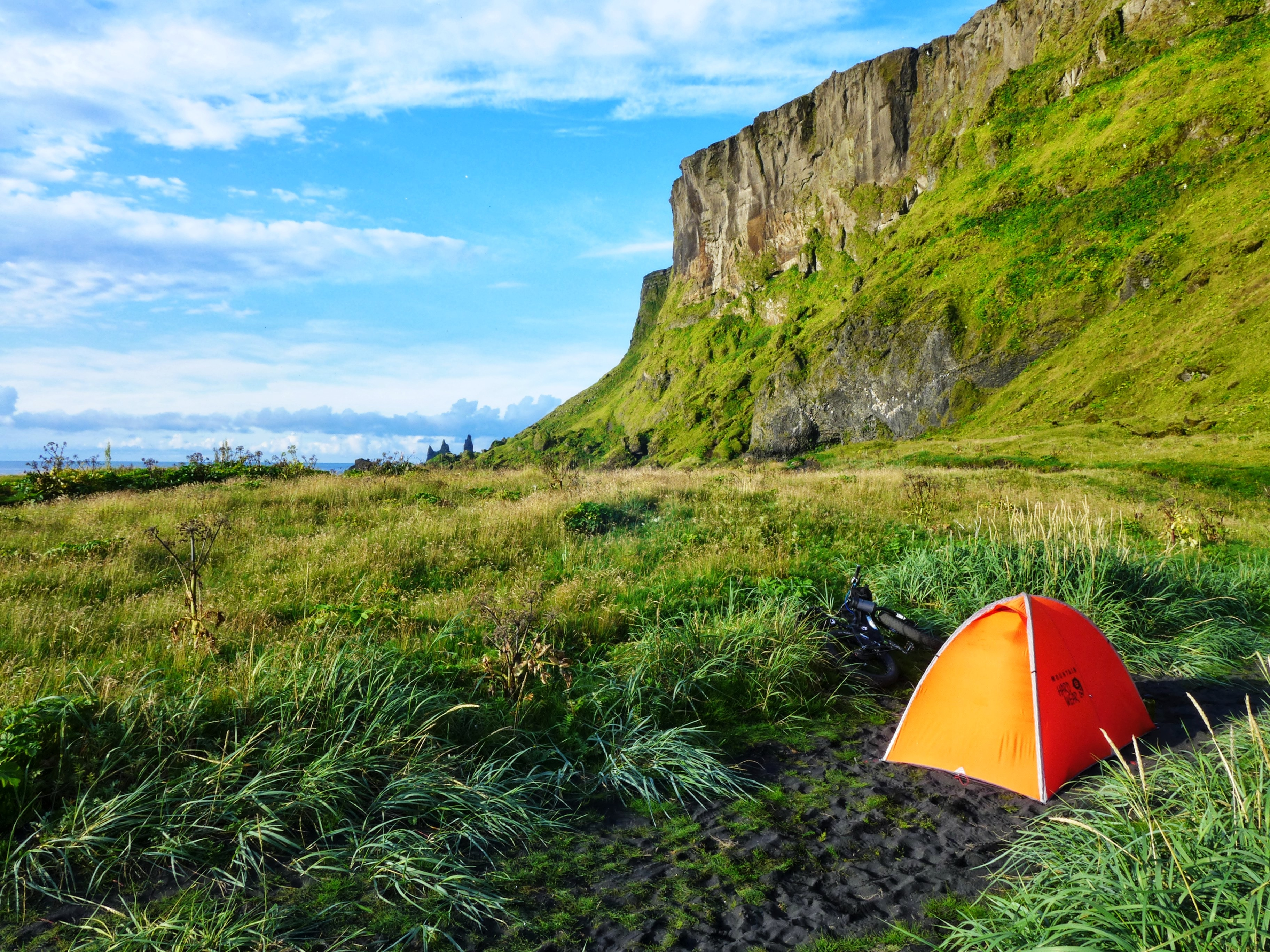 Unchained Iceland_tent in the grass