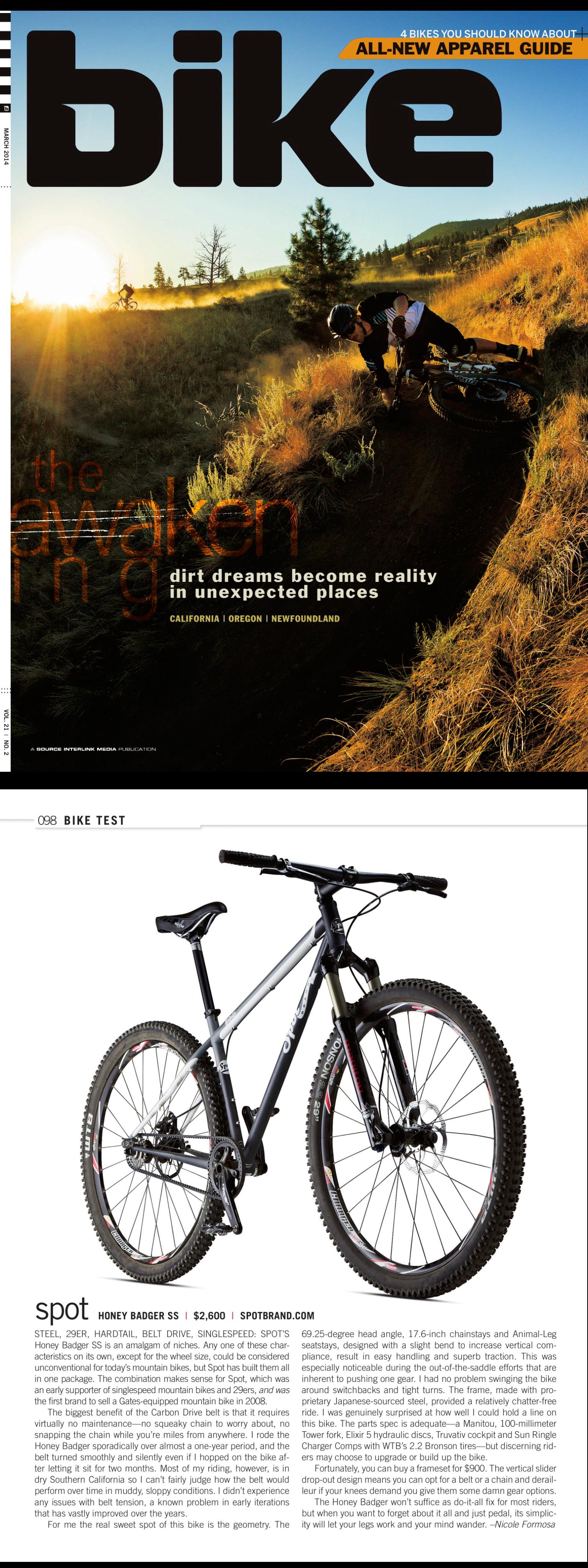 Bike Mag _ Honey Badger march 2014
