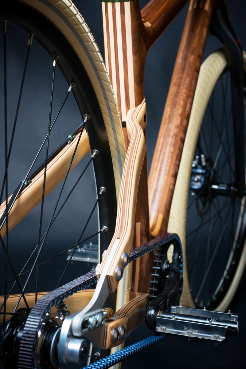 Pescok Wood bike rear