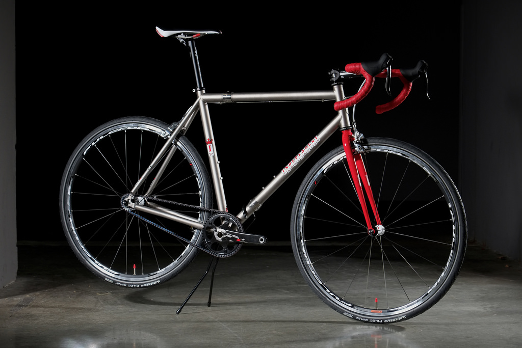 Independent Fabrications bicycle with Gates Carbon Drive belt system
