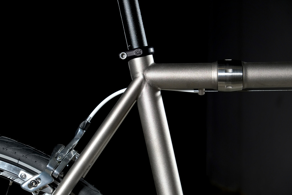 Independent Fabrications bicycle with Gates Carbon Drive belt system coupler detail