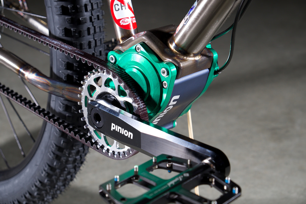 REEB bicycle with Pinion gearbox and Gates Carbon Drive belt system