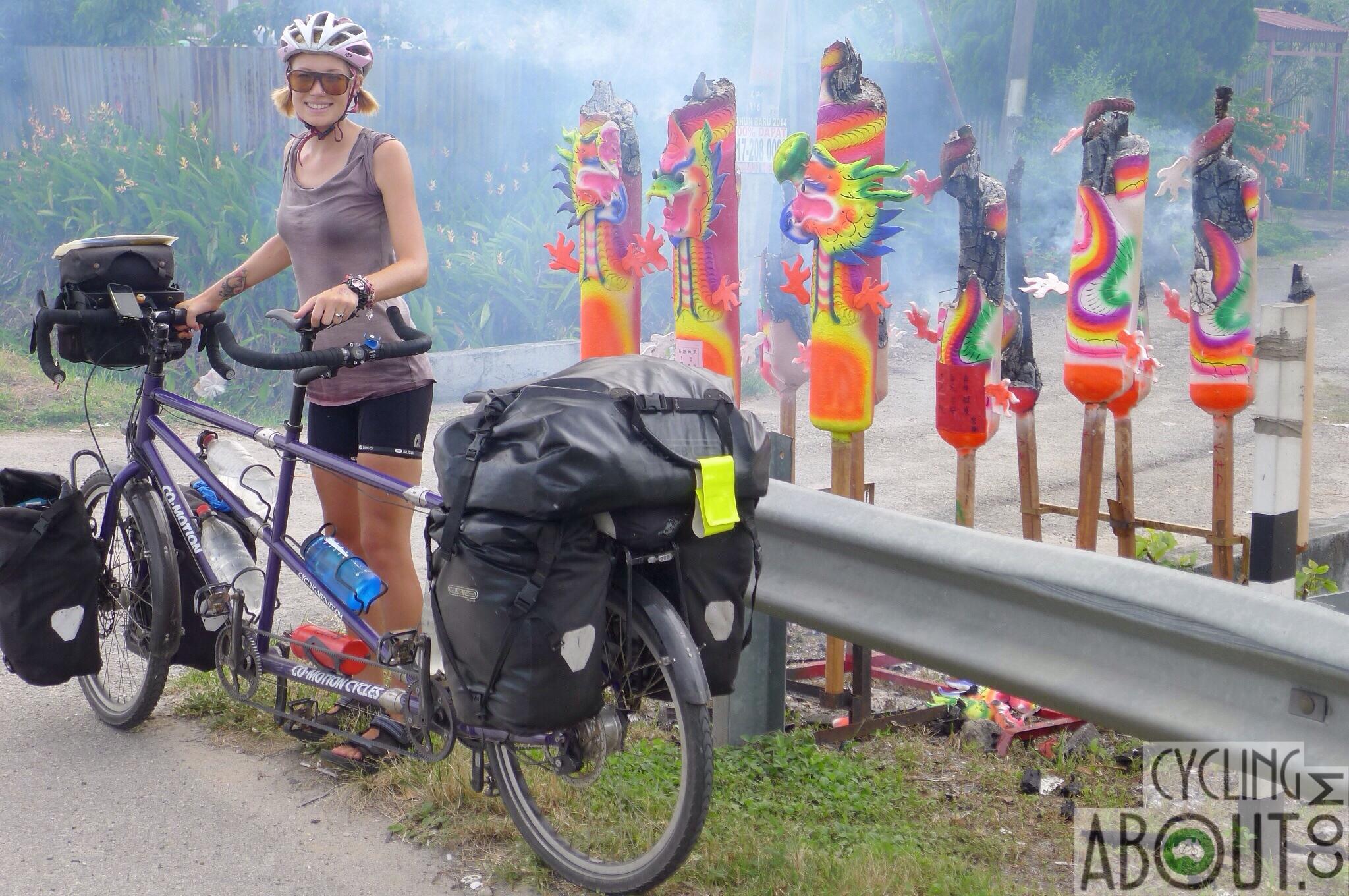Alleykat_Kat with bike in Malaysia