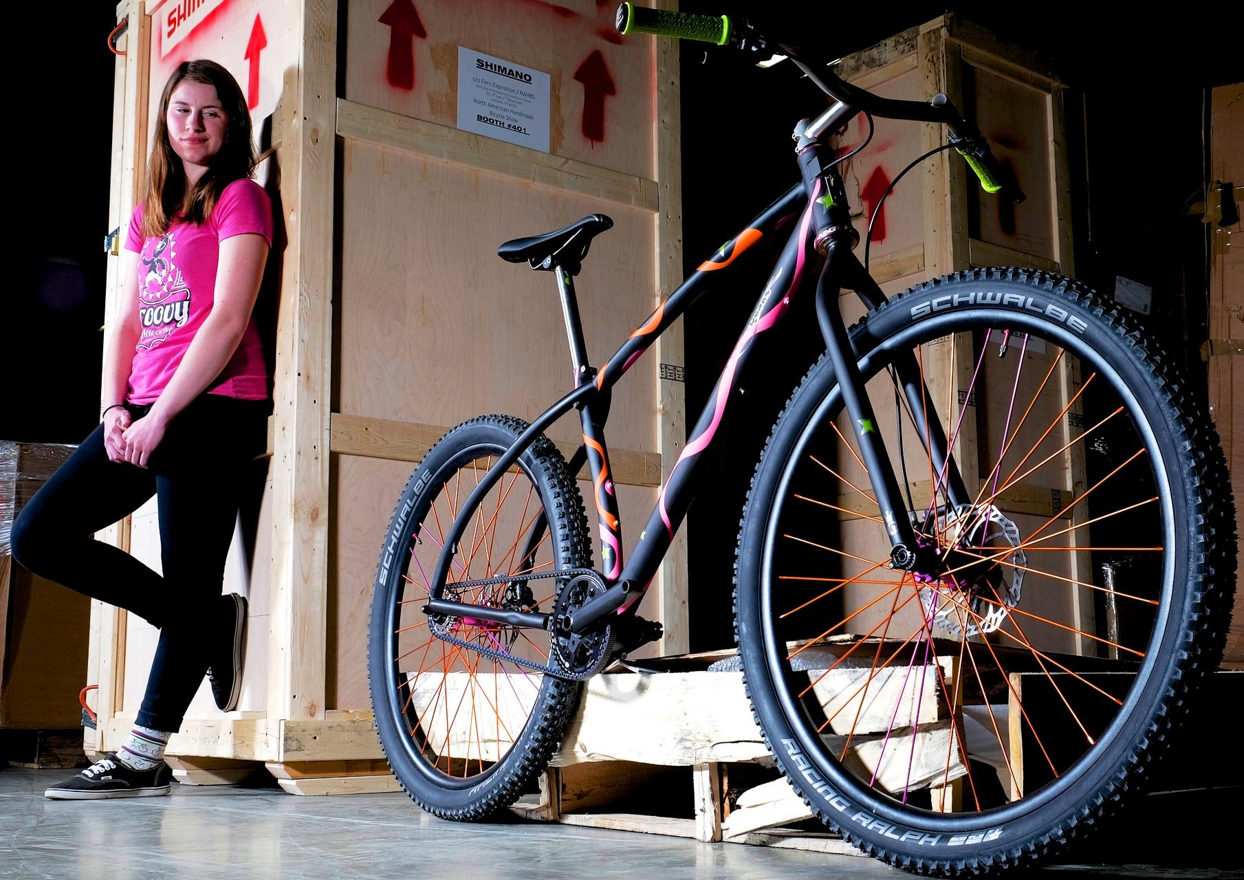Groovy Emily with Bike