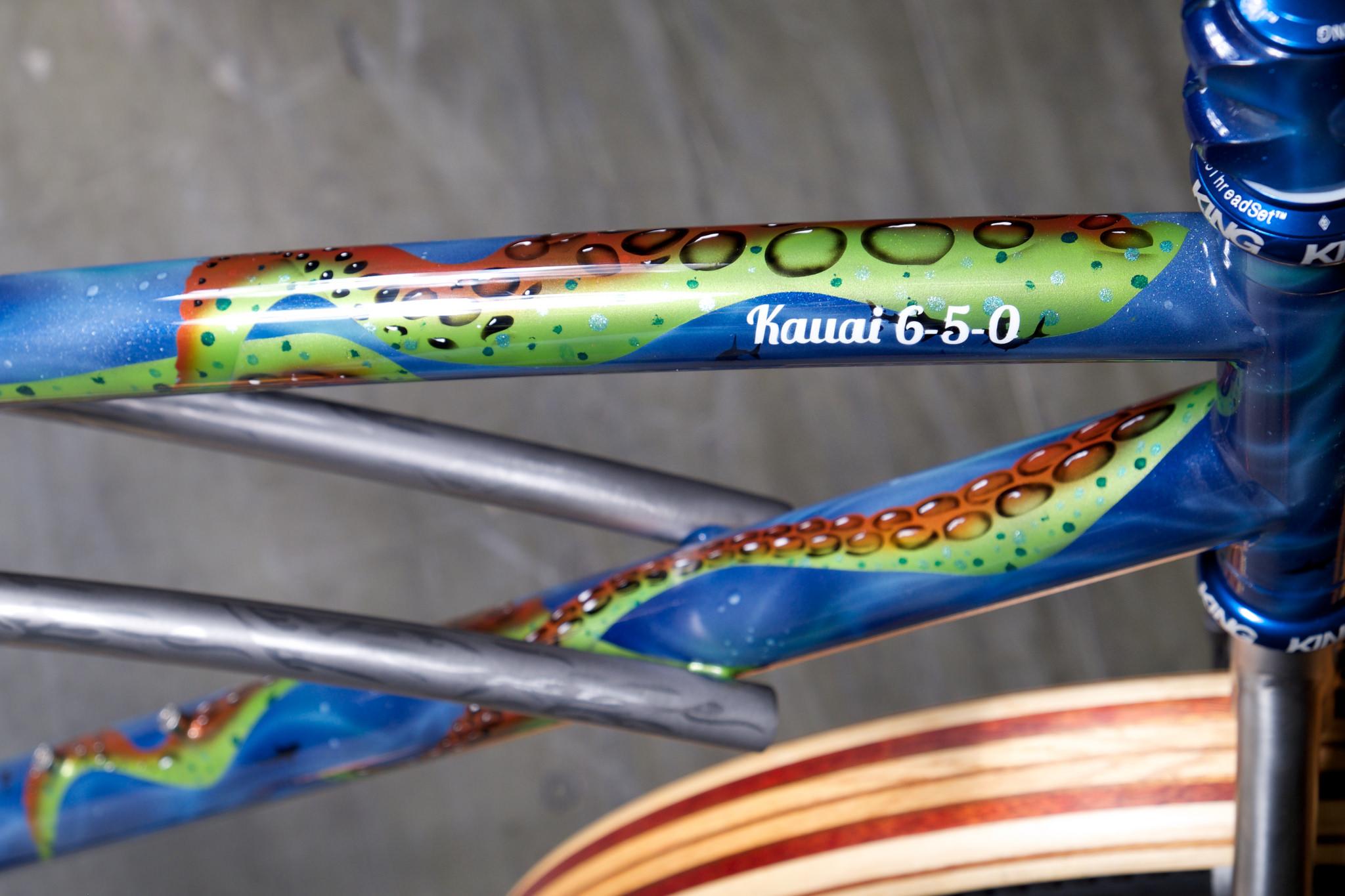 Groovy surf bike top tube