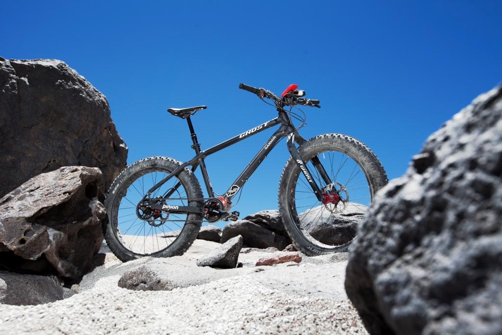 s bike profile on sand