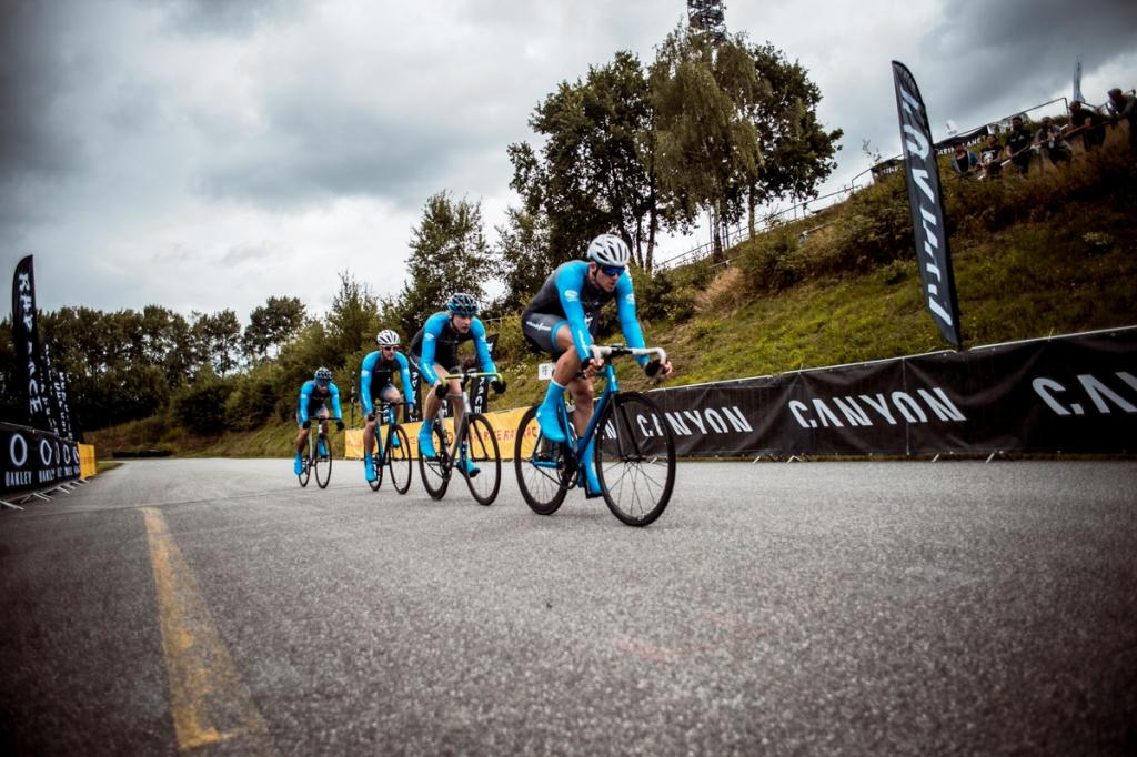 Competing in the Team Time Trial. photo: Nils Laengner