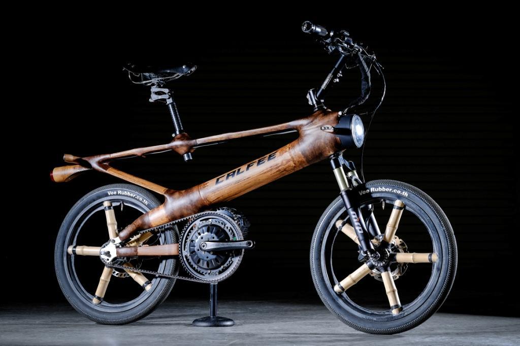 Calfee bamboo eBike complete-compressed