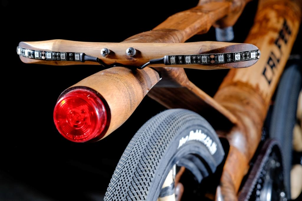 Calfee bamboo eBike tail light-small