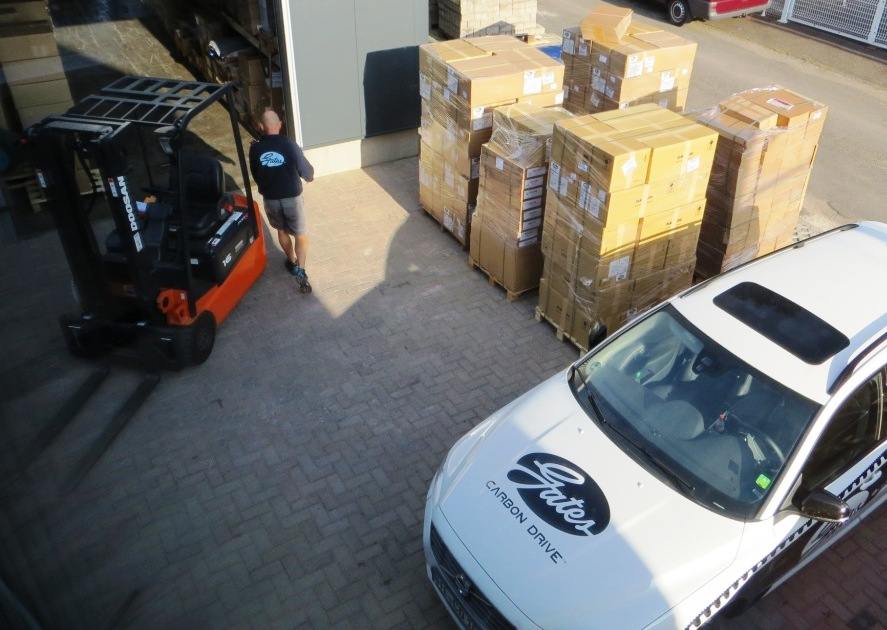 A delivery of Gates products