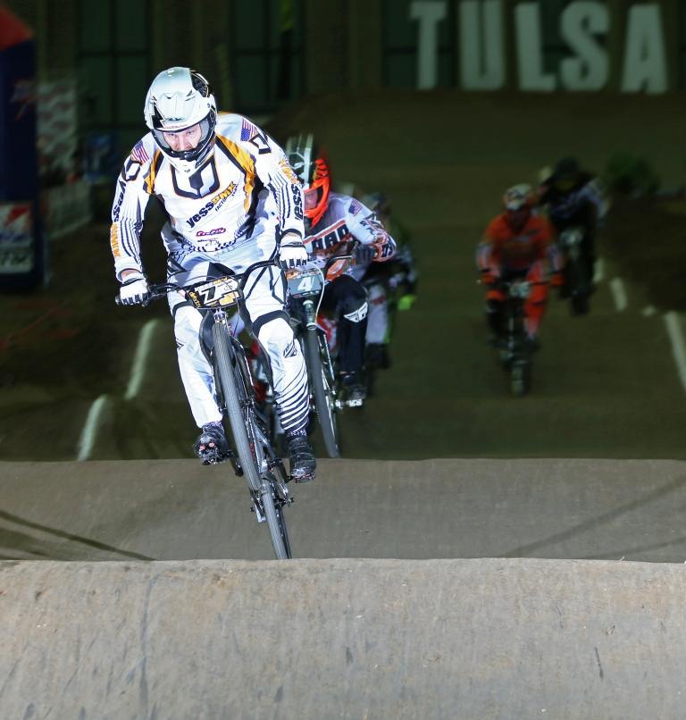 Motley during his winning run at USA BMX Grands. Photo courtesy USA BMX.