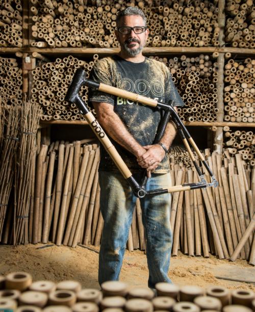 Wolf bamboo farmer