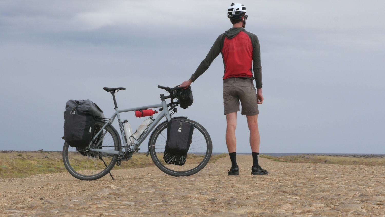 Alee Denham bicycle touring with Gates Carbon Drive belt system