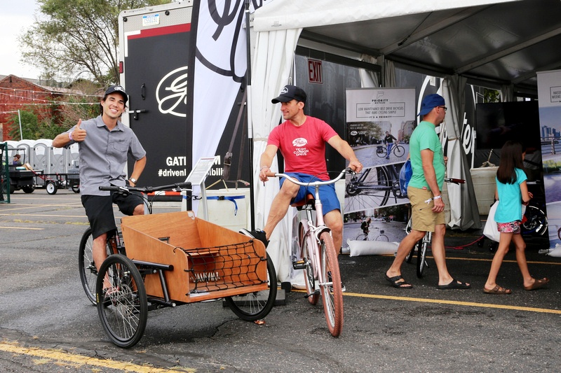 Ben rides the belted Juggernaut cargo bike