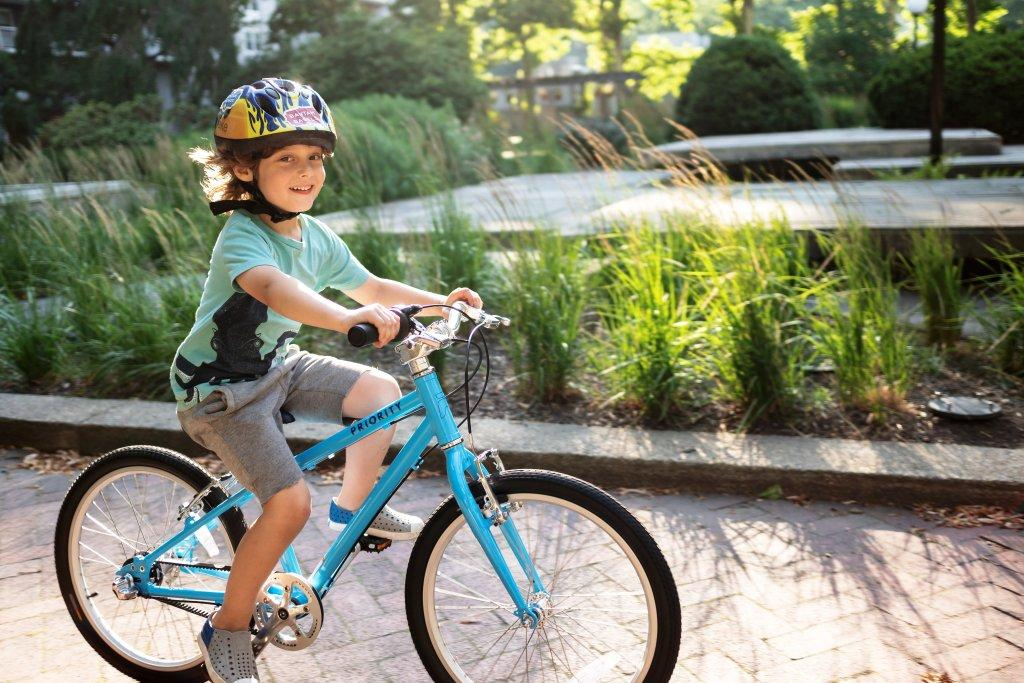 The Priority Start is a grease-free belt drive kids bike