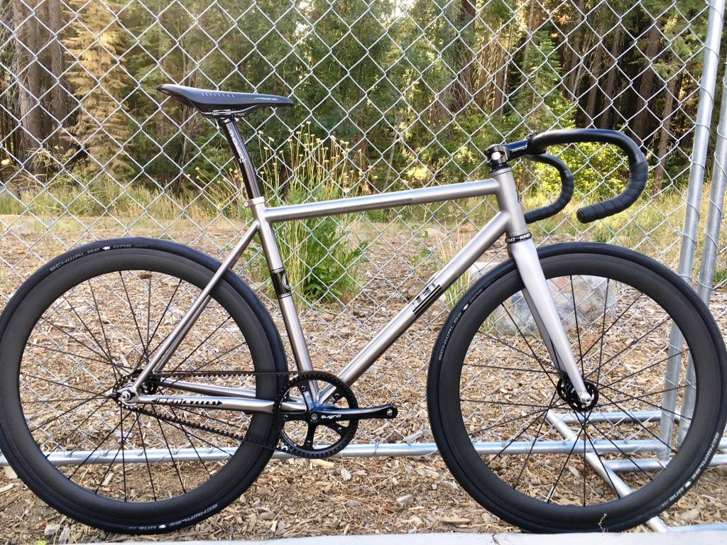 This titanium fixed gear track bike from REN Cycles was featherlight.