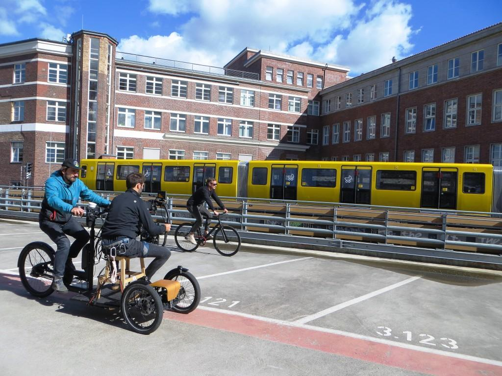 filming with cargo bike