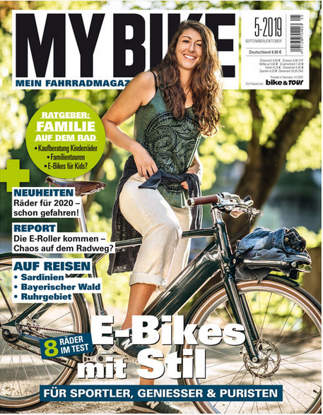 Schindelhauer on cover of MyBike Magazine--a new German publication that covers eBikes